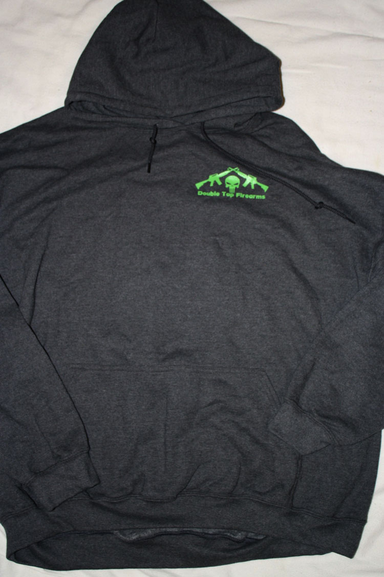 Double Tap Dark Gray Hoodie | Double Tap Firearms